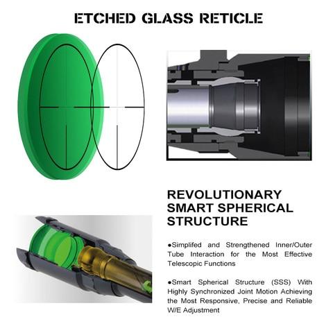 centro ponto iluminado vidro gravado reticle 30mm tubo tatico optica