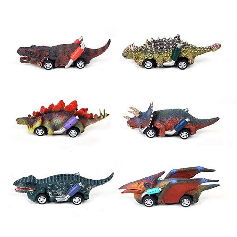 Simulation Cars Pull Back Dinosaur Model Car Toys For Kids Mini Christmas Gifts Vehicles Toys For 3-9 Year Old Boys Cars