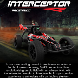 Image 2 - Emax Interceptor FPV Racing Car 2.4G Radio Control High speed With Camera Goggle Glasses RC Car 2~3S RTG Version for Gift