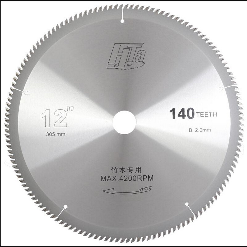 Free Shipping Of Super Quality 305*2.0*30/25.4mm*140Z  Thin Kerf  Super Sharp Teeth Shape TCT Saw Blade For Bamboo Cutting