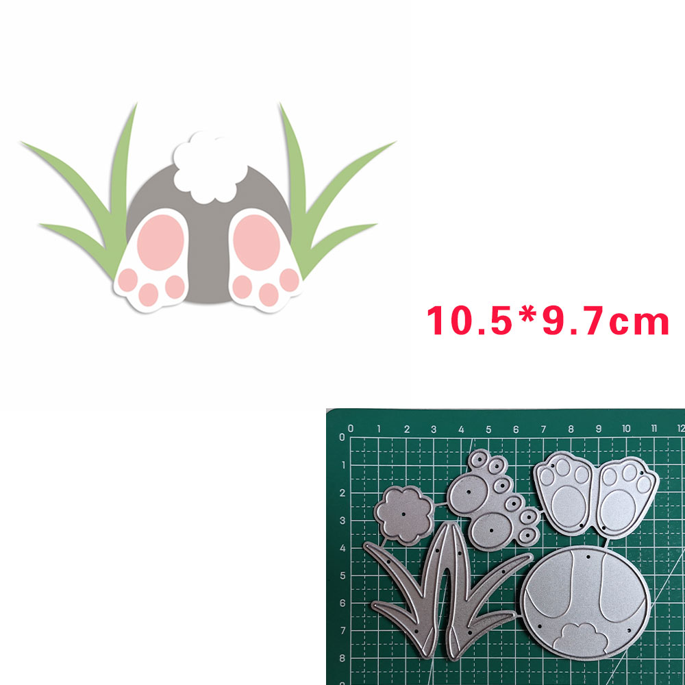 Happy Easter Metal Dies For Scrapbook Greet Card Make Metal Cutting Dies 2020 Nouveau Arrivage Grass Bunny Asseiffel Store