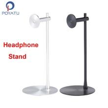 POYATU Universal Aluminum Headphone Hanger Stand Bracket Rack Headphone Desk Display Gaming PC Stand Holder Solid Base Rack