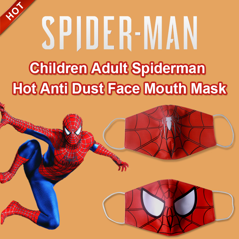 5/10/20 Pcs Marvel Series Spider-Man Kids Adult Face Mask Dustproof Breathable Anti-fog Haze Mask BOY'S Face Mask Dustproof Kids