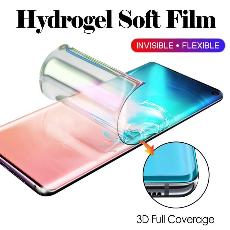 3D Full Coverage Hydrogel Soft Film For Samsung Galaxy S7 Edge S8 S9 S10 Plus Lite 5G 6.7