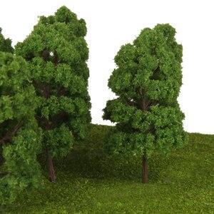 10 Green Model Trees 1:75 HO Scale Train Railway War Game Diorama Scenery