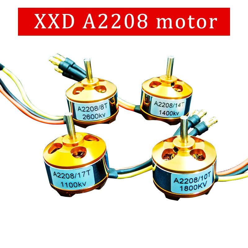1pcs XXD A2208 KV1100/KV1400/KV2600 Brushless DC Electric Motor for RC Airplanes/Boat/Vehicle Model