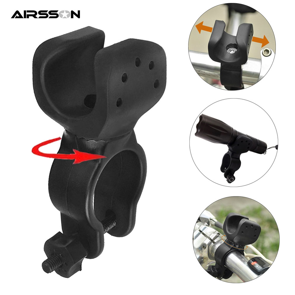 Bicycle Bike motorcycle Helmet Torch Mount Cycle Light Flashlight Holder Clamp