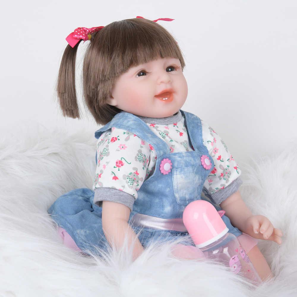 """22 """"bebe reborn silicone vinil pano corpo boneca lifelike recém-nascido realista moda bebê boneca brinquedo para crianças dia do miúdo presentes 55 cm"""