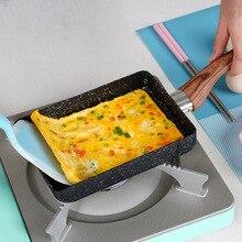 15*18 kızartma Non Stick tava Tamagoyaki japon tıbbi taş alüminyum alaşımlı tava makinesi kızartma yumurta tava gözleme Pot pembe tencere
