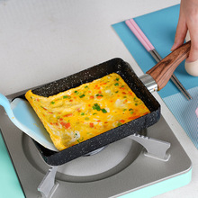 15*18 padella antiaderente Tamagoyaki pietra medica giapponese lega di alluminio Pan Maker padella per uova Pancake pentola pentole rosa