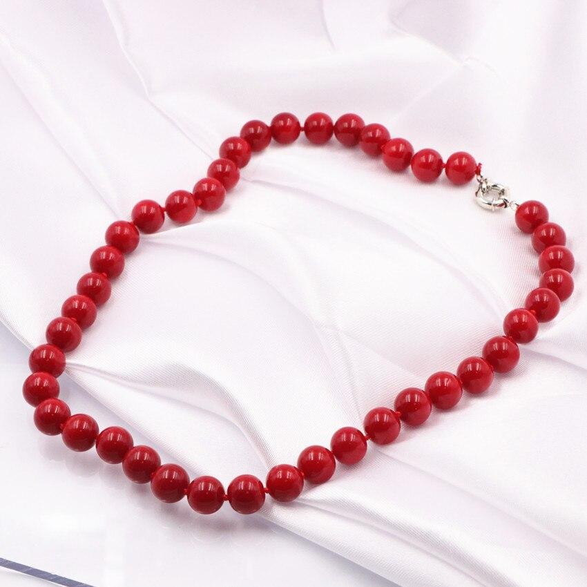 Perlin G910 120 perlas de piedra natural de coral rojo natural 12 mm