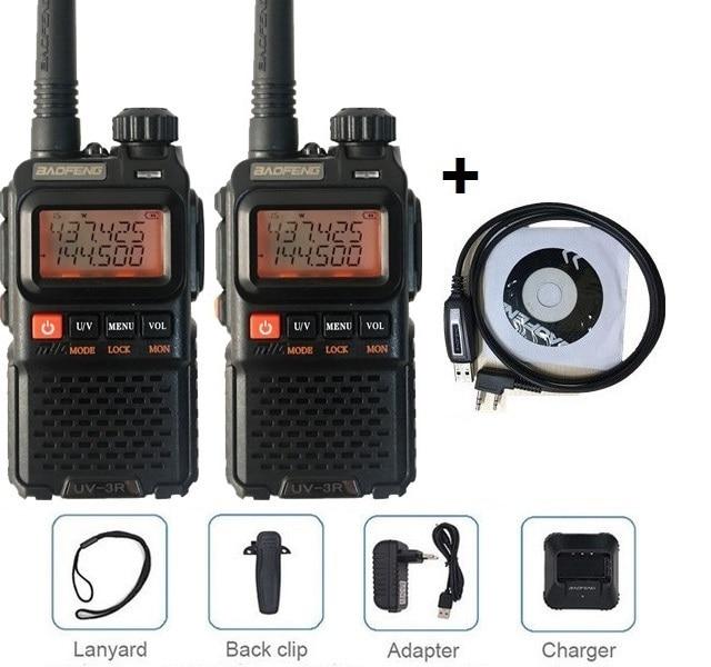 UK Mini Baofeng UV3R 3.3 W Dual Band Radio 2-WAY UHF//VHF GRATUIT étui souple