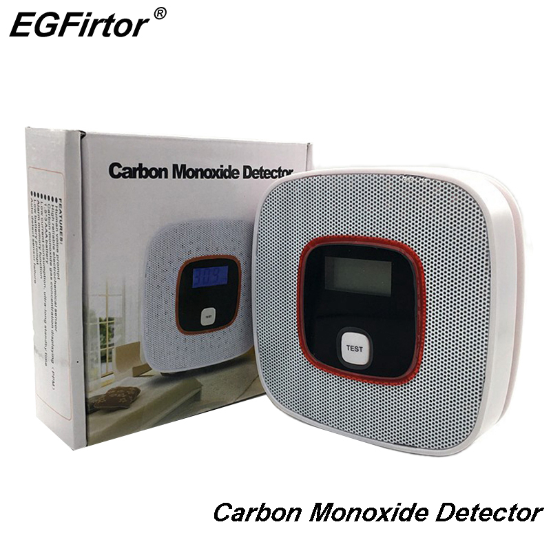 Security Alarm Carbon Monoxide Detector Co Gas Sensor Detector Battery Operation Poison Gas Leakage Detector Kitchen Sensor