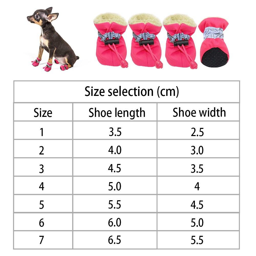 Купить 4 шт/компл зимняя светоотражающая толстая плюшевая теплая обувь