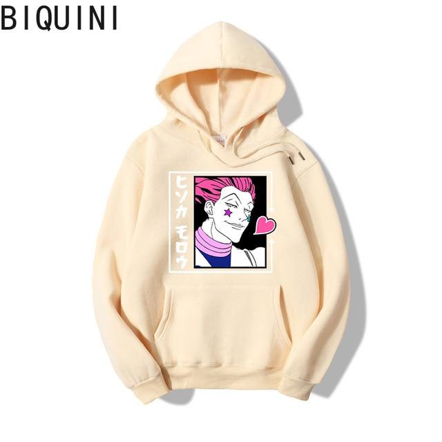 HUNTER X HUNTER HISOKA MOROW Hoodies 12 Color Hooded Tops UNISEX basic print Sweatshirt Long-sleeved  Plus Velvet  Streetwear 3