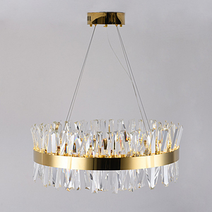 Image 4 - Modern Chandelier for Bedroom Round Gold/Chrome Crystal led Chandeliers for Living Room Dining Room Hall Hallway Home Decor Lamp
