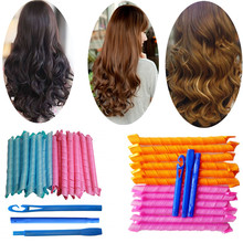 Magic Hair Curlers Hair-Curlers Spiral Curls Roller wave curlers hair  rouleau bigoudis cheveux foam rollers sponge Hair Tools цена 2017