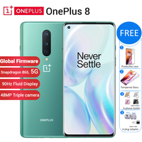 Global firmware Oneplus 8 5G Mobile Phone 12GB 256GB 6.55 90Hz Snapdragon 865 48MP 30W 4300mAh NFC 8GB 128GB 5G Smartphone