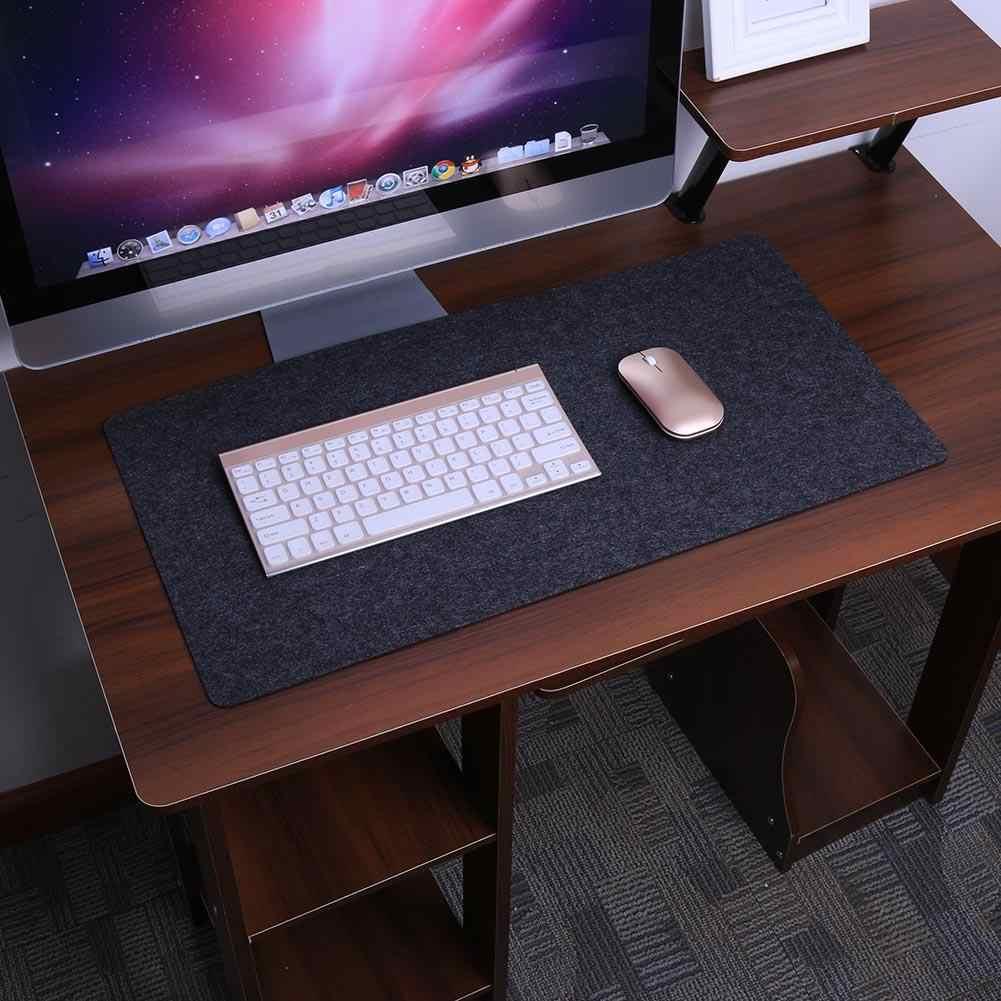 Komputer Meja Tikar Meja Modern Merasa Meja Kantor Mouse Pad Pemegang Pena Wol Merasa Laptop Bantal Meja Tikar Pad