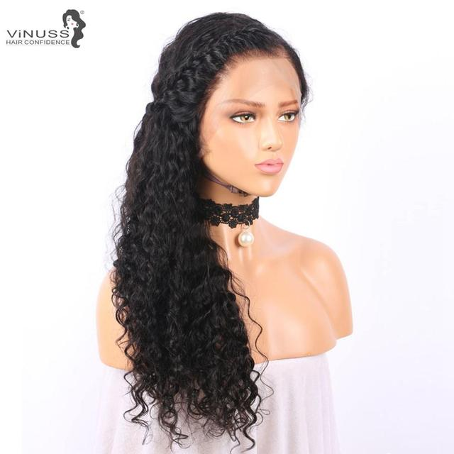 Vinuss Full Lace Human Hair Wigs water wave For Black Women Lace Front Wigs Brazilian Remy Pre Plucked Bleached Knots 4