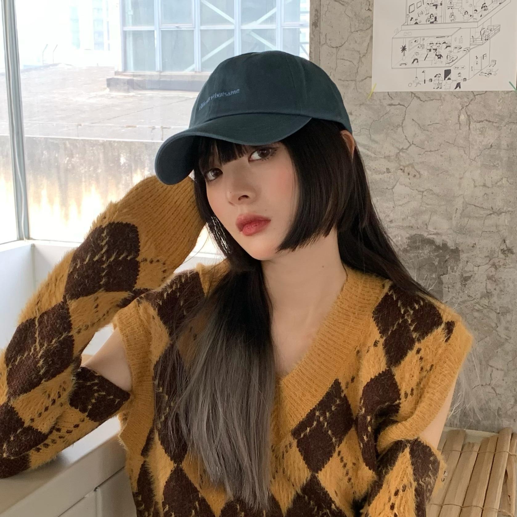 Новинка 2021, женская шляпа, корейский стиль, особый интерес, модный бренд, Кепка с козырьком, визуально показывает лицо, для учеников начально...