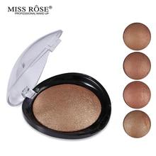 1PC Women Hot Sale Bronzer Blush Palette Face Makeup Baked Cheek Color Blusher Professional paleta de blush from Miss Rose Brand