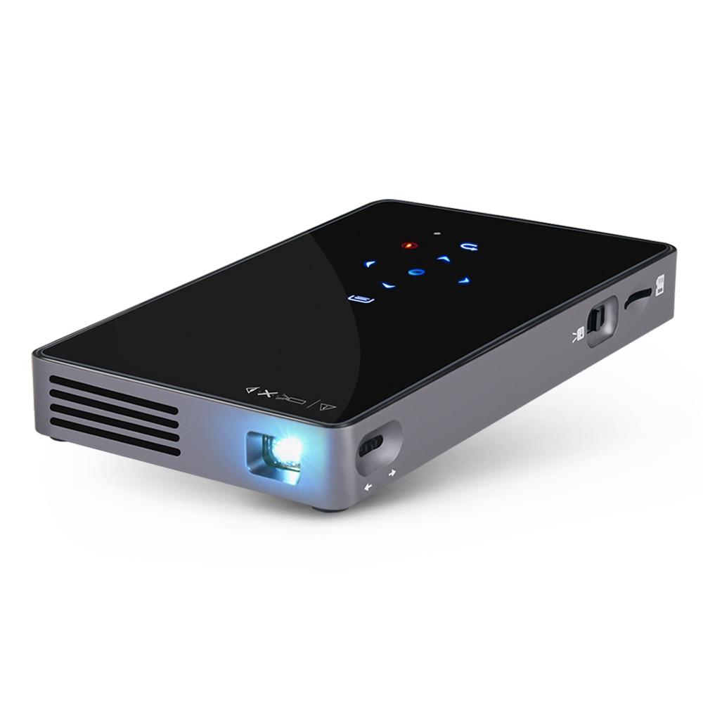 WZATCO CT50 Android 7,1 OS WIFI Bluetooth Pico Мини Микро Лазерный DLP проектор портативный Proyector с батареей для домашнего кинотеатра