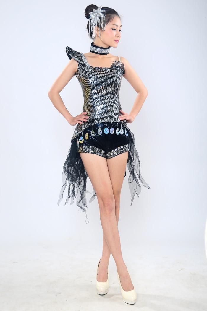 Jazz Dance Uniforms Sequins Stage DS DJ Dance Costume Girl Sequin Jazz Dance Modern Dance Costume
