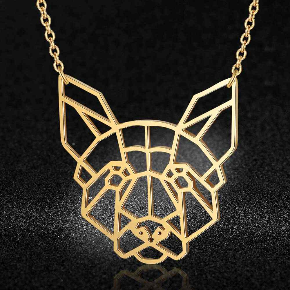 100% Real Stainless Steel Hollow Dog Necklace Fashion Animale Pendant Necklaces Pets Dogs Jewelry Wholesale