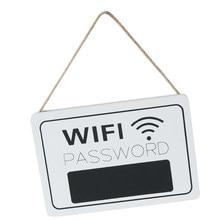 Señales de puerta con contraseña Wifi personalizadas, Plques para puerta de bienvenida de Hotel