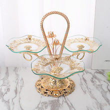 2020 New Glass Fruit Bowl Light Luxury Creative Home Living Room Hotel Tea Table Crystal Fruit Bowl Wholesale