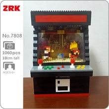 ZRK 7808 luchando contra Video juego máquina negro 3D modelo 1060 Uds Mini DIY diamante bloques de ladrillos de construcción de juguete para niños sin caja