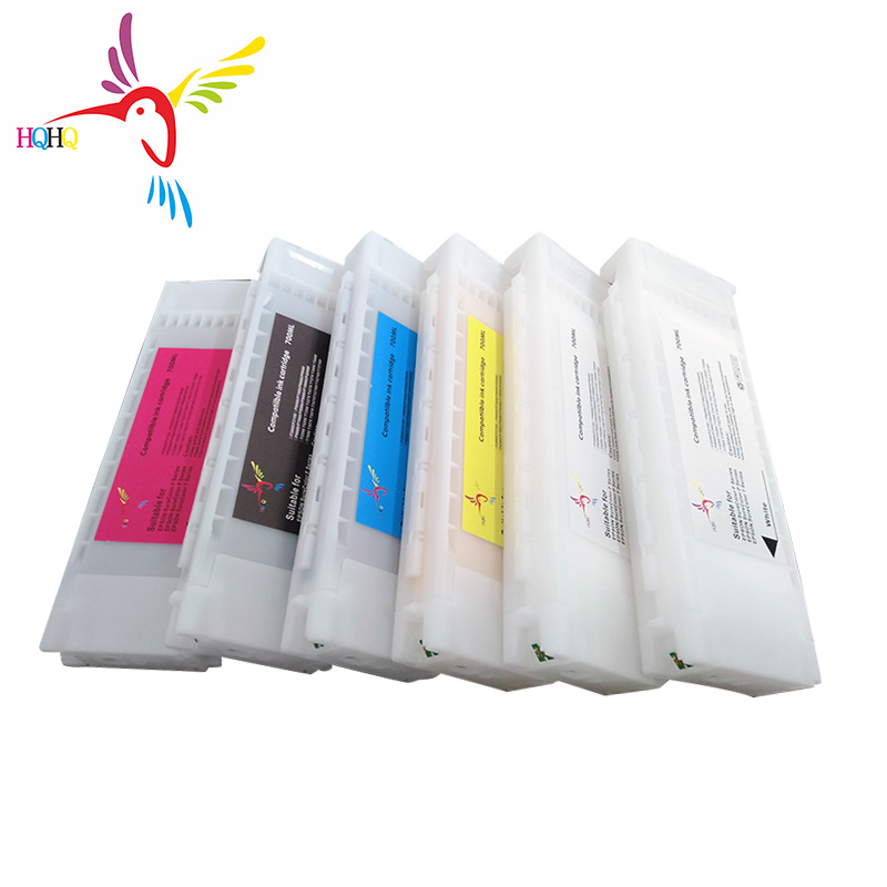 700ML 6pcs/Set T7251-T7254 T725A Compatible Ink Cartridge Filled With Textile Ink For <font><b>Epson</b></font> SureColor <font><b>F2000</b></font> F2100 <font><b>Printer</b></font> T7251 image