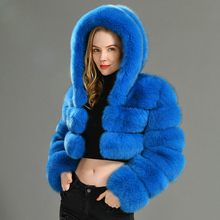 2019 Winter Real Fox Fur Women Coats Natural Genuine Female Fox Fur Jacket High Quality Ladies Hooded Fur Coat