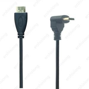 Image 5 - 0.5M 90 Gradi Angolo di Mini HDMI A HDMI Maschio M/M Connettore del Cavo V1.4 Per DSLR Video Camera monitor LCD