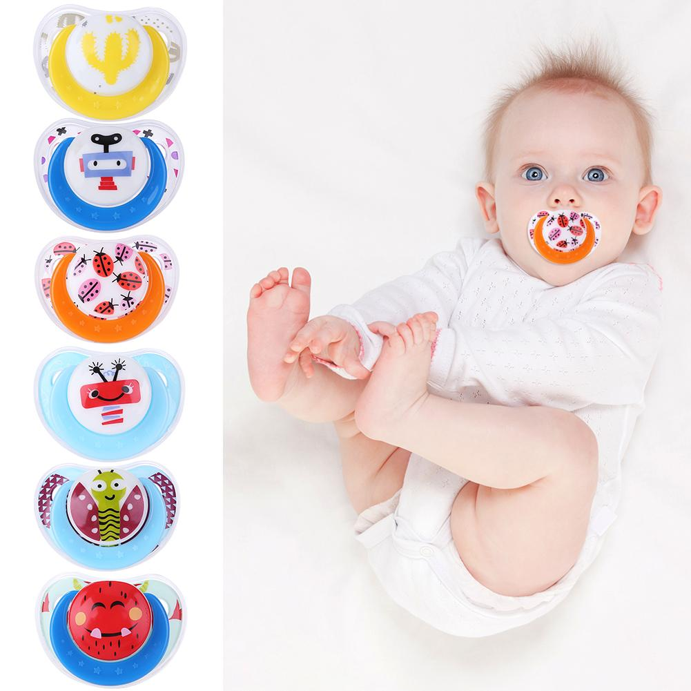 Nette Baby Schnuller Silikon Spielzeug Sicher Neugeborenen Kleinkind Beißring Anti-Staub Nippel Schnuller mit Antistaubgesichtsmaske Deckel Abdeckung