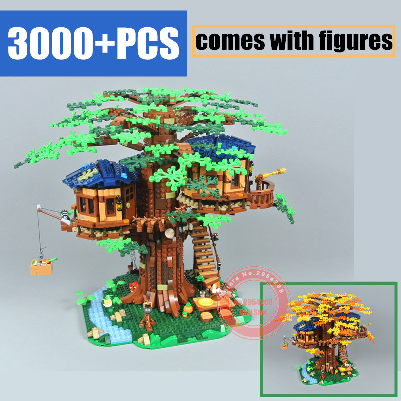 New 2019 New Tree House MOC Ideas Model Building Blocks Bricks Kids Educational Toys Gifts Kid