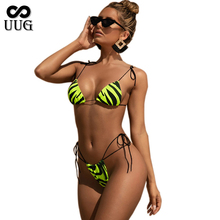 UUG Bikini Set 2020 Sexy Push Up Swimwear Women Animal Print