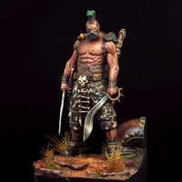 1/24 75mm soporte antiguo guerrero con espada resina figura modelo miniatura gk sin pintar