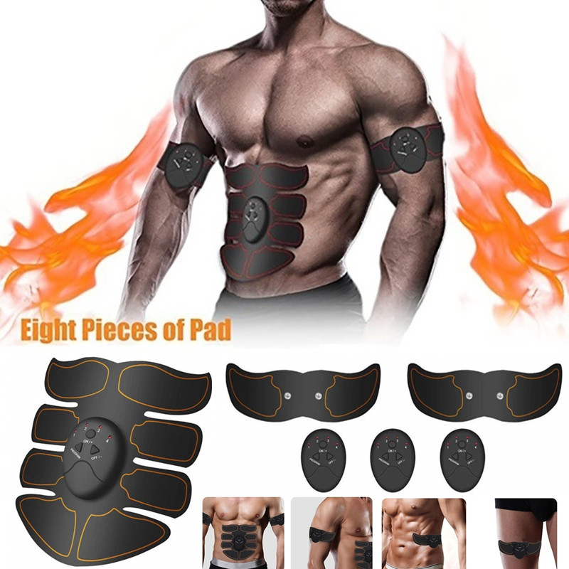 ABS Abdominal Muscle Toner EMS Wireless Muscle Stimulator Trainer Body Slimming Belt Electric Exercise Machine Fitness Equipment