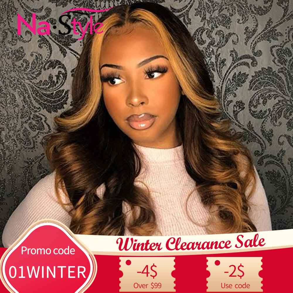 Full Lace Human Hair Wigs Colored 360 Lace Frontal Wig Wavy 13x6 Lace Front Human Hair Wigs Honey Blonde Lace Front Wigs Ombre