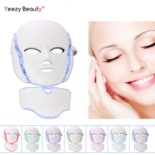 LED Facial Mask Beauty For Face & Neck   Anti Wrinkle Acne Removal Skin Rejuvenation Electric Facial Beauty Machine photodynamic led facial mask daily beauty instrument anti acne skin rejuvenation led photodynamic beauty mask for face neck ear