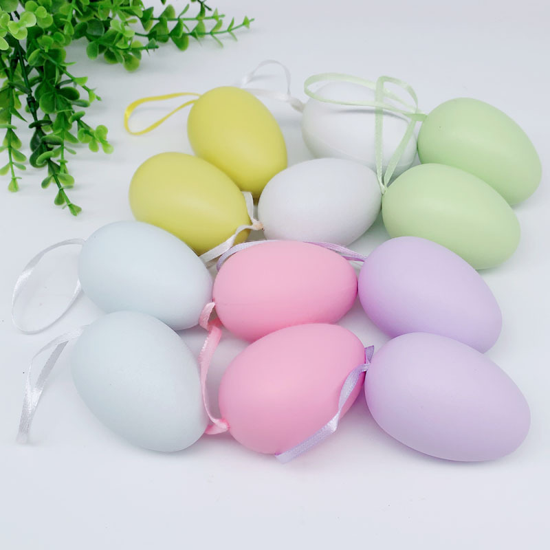 12pcs Easter Painting Eggs DIY Home Decoration Kindergarten Handcraft Toys Educational Kids Toys  Easter Home Decoration