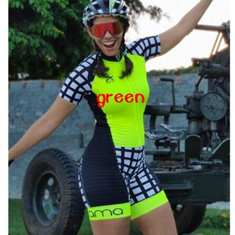 2020 femmes Triathlon manches courtes cyclisme Jersey ensembles Maillot Ropa Ciclismo vélo vêtements vélo vêtements aller combinaison