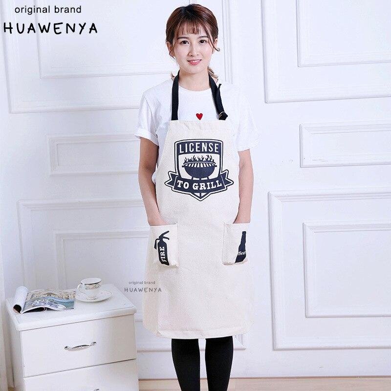 Scandinavian Minimalist Sleeveless Apron Western Restaurant Cafe Work Clothes 100% Cotton Canvas Household Apron Skirt Set|Oversleeves| |  - title=