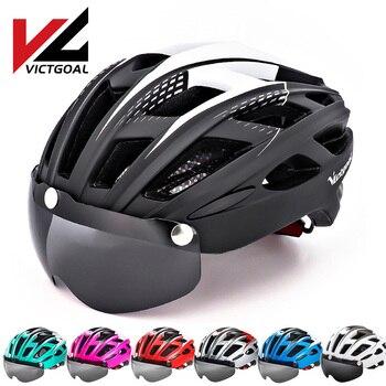 Victgoal capacete de ciclismo para homens, óculos de segurança mtb esportivo ao ar livre, capacete ultraleve para bicicleta de montanha na estrada, proteção para ciclismo 1
