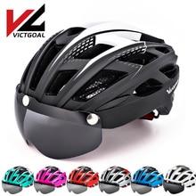 VICTGOAL Cycling Helmet For Men Goggles MTB Outdoor Sport Bicycle Helme