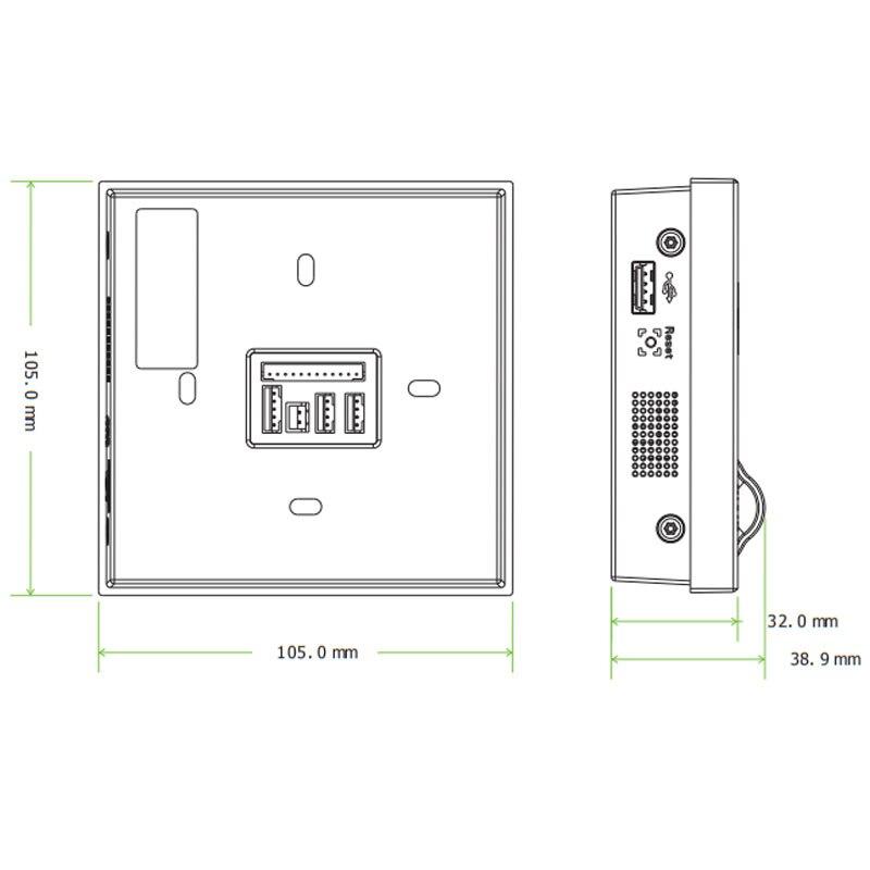ZK SF400 TCP/IP USB биометрический контроль доступа по отпечаткам пальцев, автономный регистратор времени посещаемости, умная система управления дверью-3
