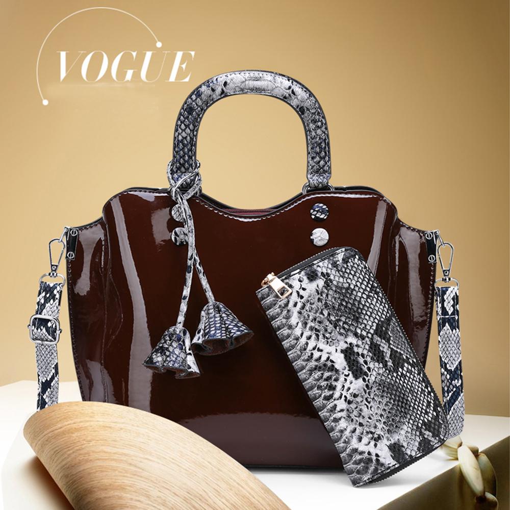 3pcs Women Bag Handbag Luxury Designer Brand Serpentine Crossbody Shoulder Bag Leather Purse and Handbags Tote Ladies Hand Bags