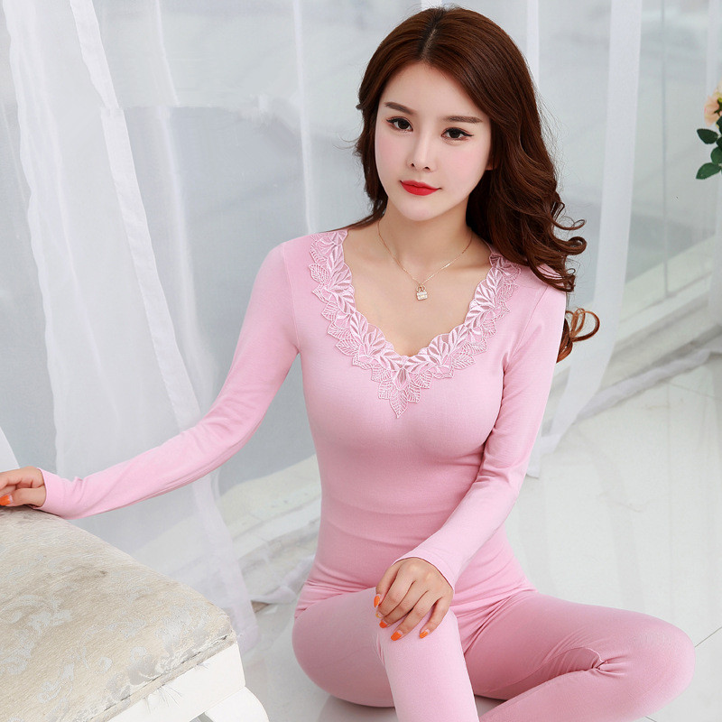 Thermal Underwear Sets Female Autumn Winter Women Modal Long Johns Seamless Top And Pant Suit Sexy Slim Body Shaper Warm Tights